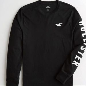 A black and white hollister shirt